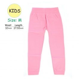 wholesale A18 kids fur solid leggings Pink M fashionunic