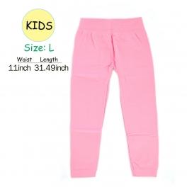 wholesale A18 kids fur solid leggings Pink L fashionunic