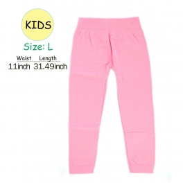 wholesale A18 kids fur solid leggings Pink L fashionunic