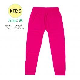 wholesale A18 kids fur solid leggings Fuschia M