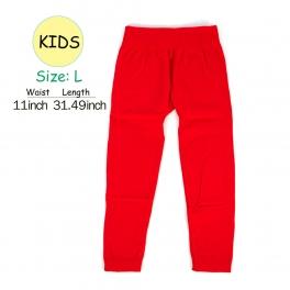 wholesale A18 kids fur solid leggings Red L fashionunic