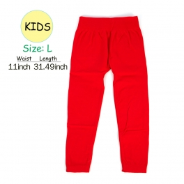 wholesale A18 kids fur solid leggings Red L fashionunic