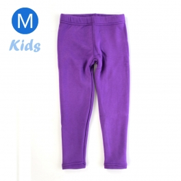 wholesale Q34 Kids cotton brushed leggings Purple M