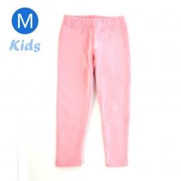 wholesale Q34 Kids cotton brushed leggings Light Pink M