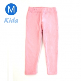 wholesale Q34 Kids cotton brushed leggings Light Pink M
