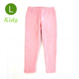 wholesale Q34 Kids cotton brushed leggings Light Pink L