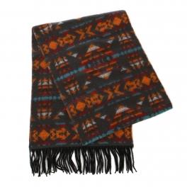 wholesale O64 Cashmere feel scarf 89703 Geometrics Brown