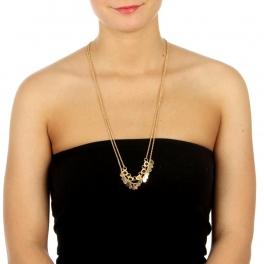 wholesale N39 Double chain necklace Black fashionunic