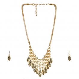 wholesale N30 Net fringe necklace set Gold fashionunic