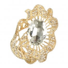Wholesale M05B Oval stone brooch GCL