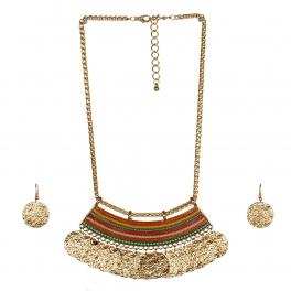 wholesale N34 Pastel-tone necklace set GDMT fashionunic