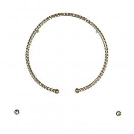 wholesale N50 Silver-tone collar necklace set RH