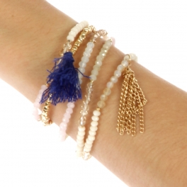 wholesale N30 Bead and chain bracelet GDNT fashionunic
