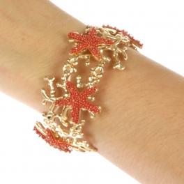 wholesale N32 Metal starfish bracelet G/CO fashionunic