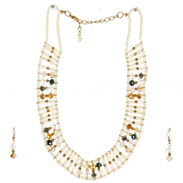 wholesale N44 Beaded collar necklace set GDIV