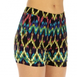 wholesale M06 Abstract print shorts GN/YL fashionunic