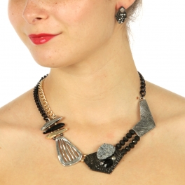 Wholesale L12 Multi stone statement necklace set HTAS