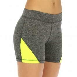 wholesale K25 Colorblock fitted yoga shorts Blue