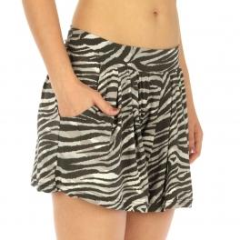 Wholesale A14 Zebra elastic band shorts Grey fashionunic
