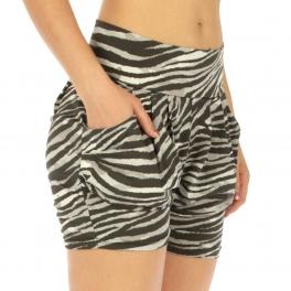 Wholesale A05 Zebra wide waistband shorts GY fashionunic