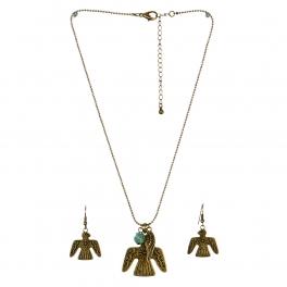 Wholesale L24 Thunderbird feather necklace set GB