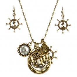 Wholesale L24 Sail charm necklace set GB fashionunic