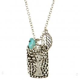 Wholesale L24 Leaf and tree charm necklace set SB
