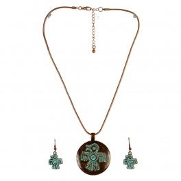Wholesale L24 Thunderbird inscribed necklace set OG