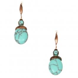Wholesale L22 Turquoise ball metal earrings OG
