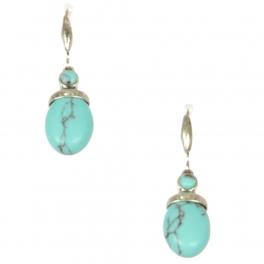 Wholesale L22 Turquoise ball metal earrings SB
