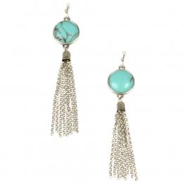 Wholesale L22 TQ metal chain drop earrings SB