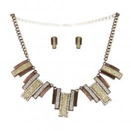 Wholesale L26 Drop faux crystalized necklace set CH