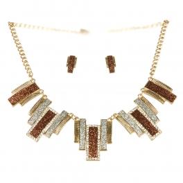 Wholesale L26 Drop faux crystalized necklace set G