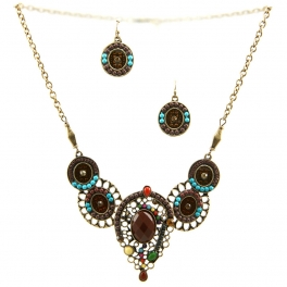 Wholesale L23 Centered stone necklace set GBBR