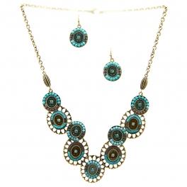 Wholesale L23 Cut out metal tribal necklace set GBTQ