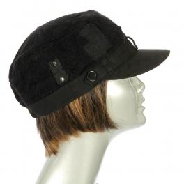 Wholesale BX00 Knit textured top cotton cadet Black