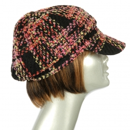 Wholesale W52 Multicolored tweed cabbie Pink fashionunic