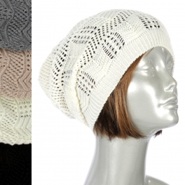 Wholesale W63 Open thin knit beanie Dozen fashionunic