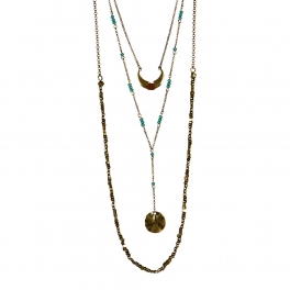 Wholesale L32 Layered crescent moon necklace GB
