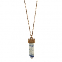 Wholesale L36A Thin chain with stone drop necklace BL