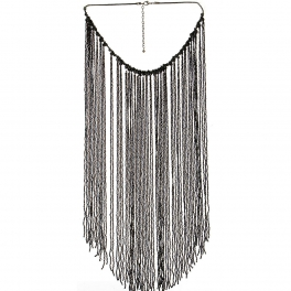 Wholesale L36D Long beaded waterfall necklace JET
