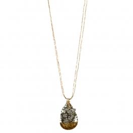 Wholesale L34C Dangling hammered metal necklace