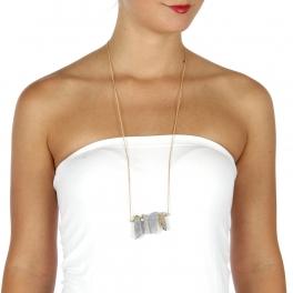 Wholesale L34C Dangling stones necklace PP fashionunic