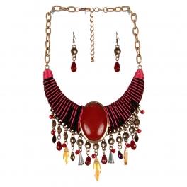 Wholesale L32E Multicolor beads drop necklace set RGRD