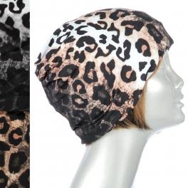 Wholesale W10 Leopard print headband beanies Dozen