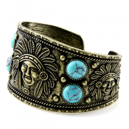 Wholesale L28E Native american metal cuff GBTQ