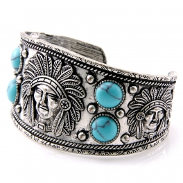 Wholesale L28E Native american metal cuff SBTQ