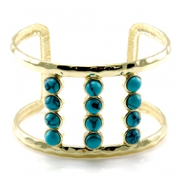 Wholesale L34D Metal cutout TQ cuff GDBK fashionunic