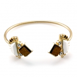 Wholesale M14A Multi stone metal cuff WGNPL fashionunic