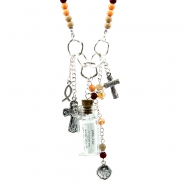 Wholesale M14B Bottled John 3:16 prayer charms necklace WSMT